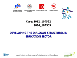 Developing the dialogue structures in education sector