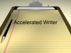 Accelerated Writer