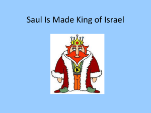Bible Study 2 (Saul is made King of Israel)