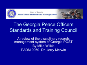 Georgia Police Officers Training Council Document