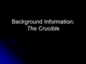 Background Information: The Crucible - Mr. Jackson`s Web-site