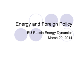 Energy and Foreign Policy