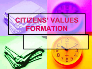 CITIZENS` VALUES FORMATION