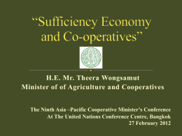 Sufficiency Economy & Cooperatives