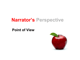 Narrator`s Perspective