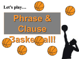Phrase Clause Review
