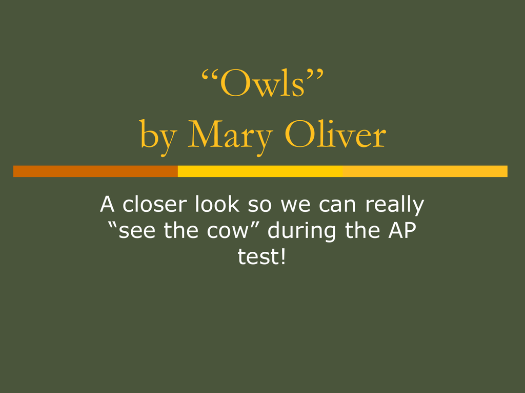 ap english owls essay 100% free ap test prep website that offers study material to high school students seeking to prepare for ap exams enterprising students use this website to learn ap class material, study for class quizzes and tests, and to brush up on course material before the big exam day.
