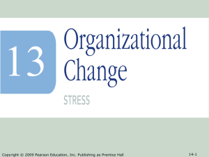 Ch 13 - Organizational Change - BUS 203