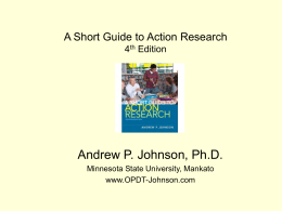 Action Research as Master`s Thesis - ar