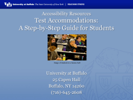 Test Accommodations for Students Presentation