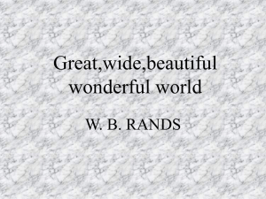 Great,wide,beautiful wonderful world