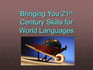 Common Core for World Languges