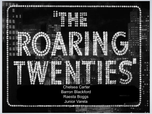 The roaring 20`s