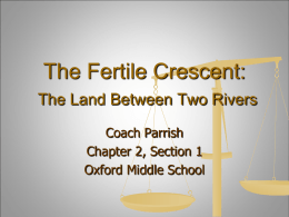 The Fertile Crescent - Oxford School District