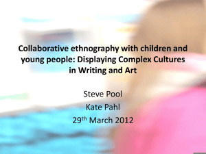 Collaborative Ethnography with Children and Young People