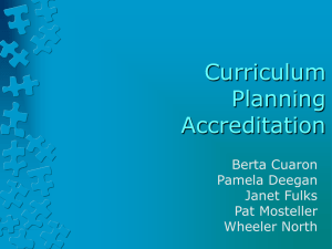 4D-Curriculum, Planning & Accreditation