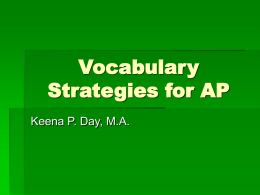 Vocabulary Strategies for AP