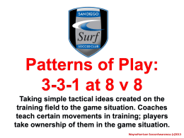 Introduction to Patterns of Play at 8 v 8