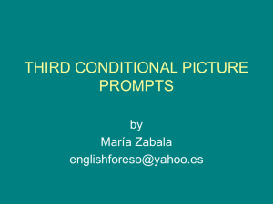 THIRD CONDITIONAL PICTURE PROMTS