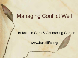 Managing Conflicts Well inet - Bukal Life Care & Counseling