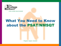 PSAT/NMSQT - LHS PSAT Team - Home