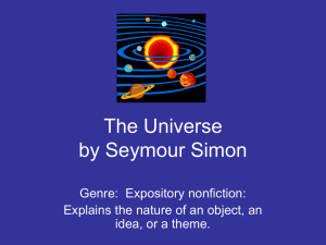 The Universe by Seymour Simon