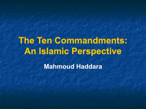 The ten Commandments: An Islamic Perspective