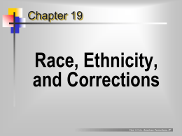 Race, Ethnicity, and Corrections
