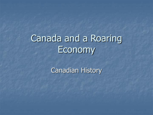 The Roaring Economy PPT (Student Handout)