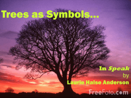 Sample Essays High School Trees As Symbols In Speak By Laurie Halse Anderson Persuasive Essay Example High School also Essays About English Speak Book Review Essay Samples For High School Students