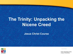 The Trinity: Unpacking the Nicene Creed