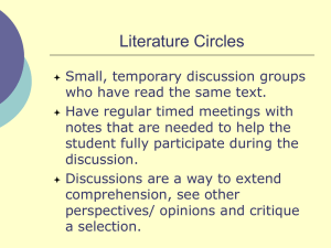Elementary Conference Literature Circle