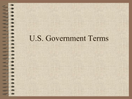 U.S. Government Terms - Great Neck Public Schools