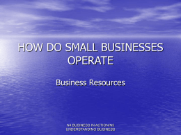 4. Business resources