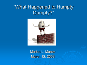 """What Happened to Humpty Dumpty?"""
