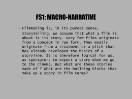 FS1: MACRO-NARRATIVE