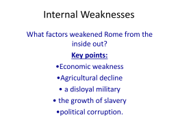 Internal Weaknesses - South Pointe Middle