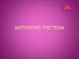 Team Leading and Motivation