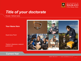 one slide - The University of Waikato