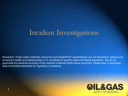 Incident Investigation Guide - Texas Mutual Insurance Company