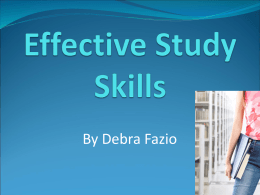 Effective Study Skills - Sinclair Community College