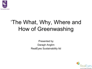 The What Why Where How of Greenwashing, Daragh Anglim