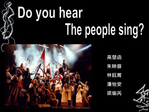 Do you hear the people sing?