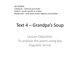 Text 4 – Grandpa`s Soup