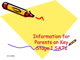 A copy of SATs PowerPoint for parents can be found here.