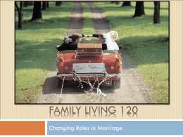 Changing Roles in Marriage