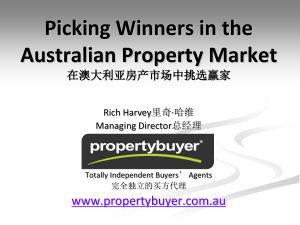 Picking Winners in the Australian Property Market 在澳大利亚房产