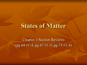 States of Matter Ch3 ANSWERS