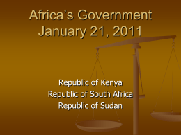 Africa`s Government January 21, 2011
