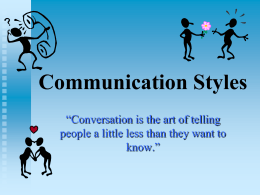 Personal Communication Styles PowerPoint